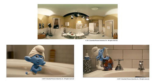 The Amazing Spider-Man's lighting techniques were developed on The Smurfs last year.